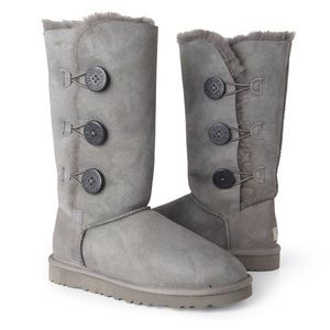 Gray Ugg Bailey Button Tall Boots